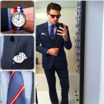 outfit of the day, menswear, suit, watch